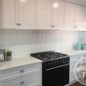 Pressed Tin Panels Original Kitchen Splashback WhiteSatin RebeccaWeis