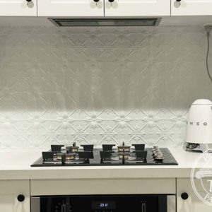 Pressed Tin Panels Original Kitchen Splashback Classic White