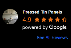 google reviews for Pressed Tin Panels