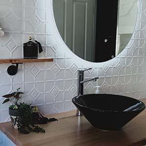 Powder Coated Pressed Metal Bathroom panels