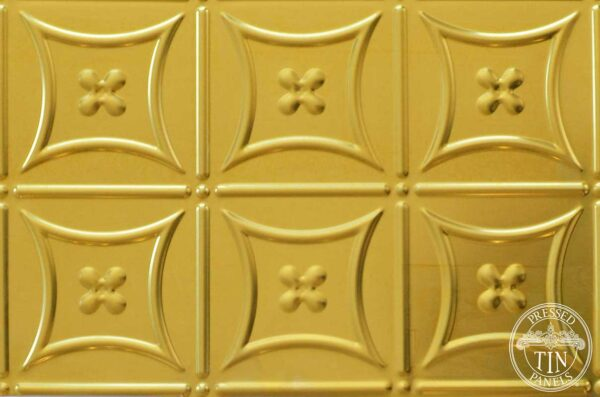 Pressed Tin Panels Carnivale Brass