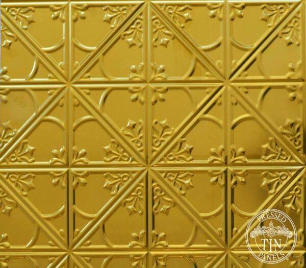 Pressed Tin Panels Snowflakes Brass