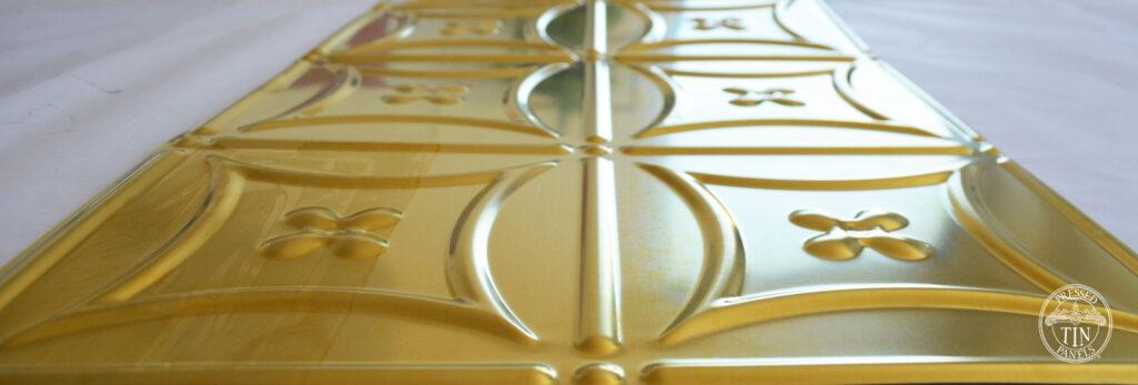 Pressed Tin Panels Carnivalé Brass