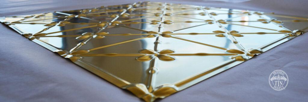 Pressed Tin Panels Clover Brass